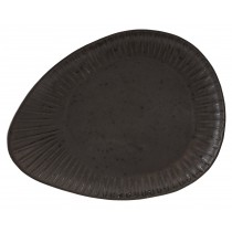 Rustico Impressions Flint Oval Plate 34cm