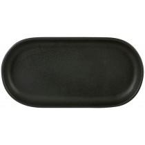 Rustico Carbon Oval Tray 30x 15cm