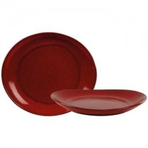 Rustico Lava Red Bistro Oval Plate 29.5 x 26cm