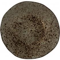 Rustico Black Ironstone Dessert Plate 21cm