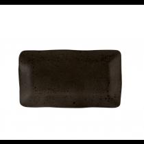 Rustico Black Ironstone Rectangular Plate 36.5 x 21cm