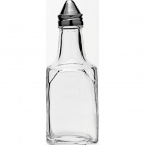Square Vinegar Bottle with Stainless Steel Lid