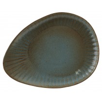Rustico Impressions Fern Oval Plate 34cm