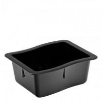 "Carlisle Modular Deli Black Pans 6.5 x 6 x 2.75"""