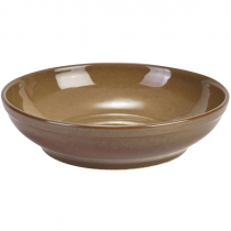 Terra Stoneware Coupe Bowl Rustic Brown 23cm