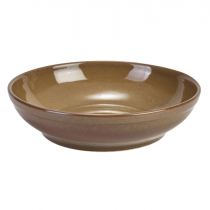 Terra Stoneware Coupe Bowl Rustic Brown 27.5cm
