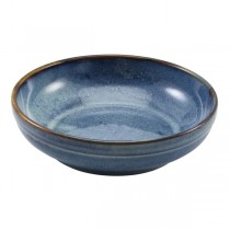 Terra Porcelain Aqua Blue Coupe Bowl 20 x 5.3cm