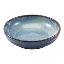 Terra Porcelain Aqua Blue Coupe Bowl 23 x 6cm