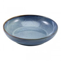 Terra Porcelain Aqua Blue Coupe Bowl 27.5 x 6.5cm