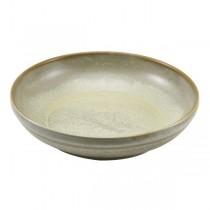 Terra Porcelain Matt Grey Coupe Bowl 27.5 x 6.5cm