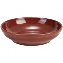 Terra Stoneware Coupe Bowl Red 23cm