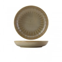 Terra Porcelain Matt Grey Scalloped Coupe Bowl 25.4cm