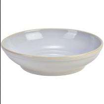 Terra Stoneware Coupe Bowl Rustic White 23cm