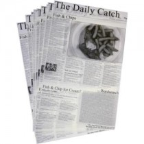 Daily Catch Newspaper Print Greaseproof Paper 27 x 42cm