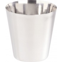 Stainless Steel Tapered Chip Cup 9 x 8cm