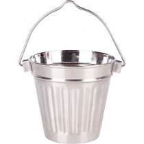 Stainless Steel Ribbed Handled Pail 9.5cm x 9cm