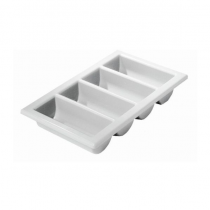 "Grey Cutlery Tray 4 Compartments  1/1 13"" X 21"""