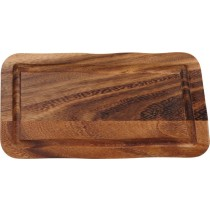 Acacia Rectangular Wooden Board with Juice Groove 30 x 15cm