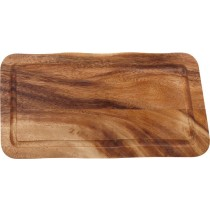 Acacia Rectangular Wooden Board with Juice Groove 35 x 17.5cm