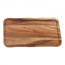 Acacia Rectangular Wooden Board with Juice Groove 40 x 20cm