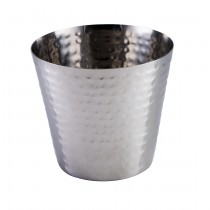 Stainless Steel Hammered Chip Cup 9cm