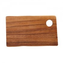 Acacia Rectangular Wooden Board with Hole 25 x 14cm