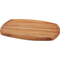 Olive Wood Serving Board with Groove 37 x 26cm