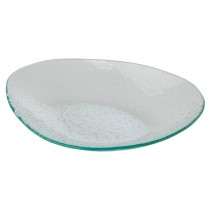 Glass Oval Plate 28.2 x 19.5cm