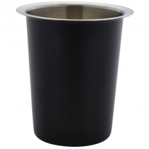 Black Coated S/Steel Cutlery Cylinder