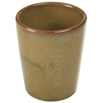 Terra Stoneware Conical Cups Rustic Brown 11.25oz