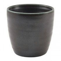 Terra Porcelain Black Chip Cup 8.7 x 8.7cm