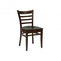 Fameg Slatted Side Chairs Walnut Finish