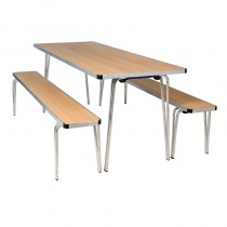 Gopak Folding Table Oak 4ft