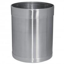 Bolero Stainless Steel Waste Paper Bin 10.2Ltr