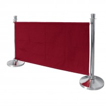 Red Canvas Barrier
