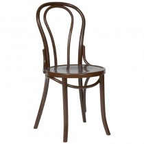 Fameg Bentwood Bistro Sidechair Walnut Finish