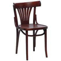 Fameg Bentwood Bistro Fan Back Sidechairs Walnut