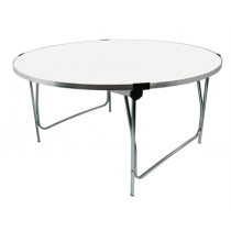 Gopak Round Folding Table White Adult 5ft