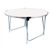 Gopak Round Folding Table White Junior 4ft