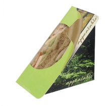 Colpac Recyclable Self Seal Sandwich Wedges Fern Print