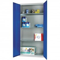 Standard Cupboard 3 Shelves Blue Doors