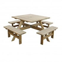 Square Picnic Table 8 Seater