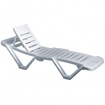 Resol White Garden Sun Lounger