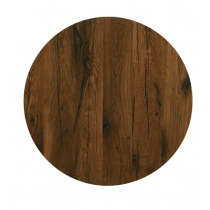 Werzalit Round Table Top Antique Oak 800mm