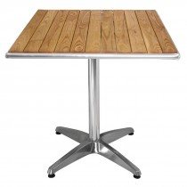 Bolero Ash Top Square Table 700mm