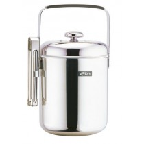 Elia Double Wall Compact Ice Bucket with Stainless 1.3Ltr