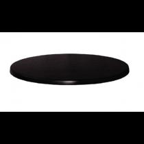 Werzalit Round Table Top Black 700mm
