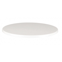 Werzalit Round Table Top White 700mm