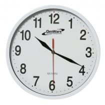 Genware Kitchen Clock 24cm White