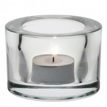 Chunky Tealight Holder - Clear